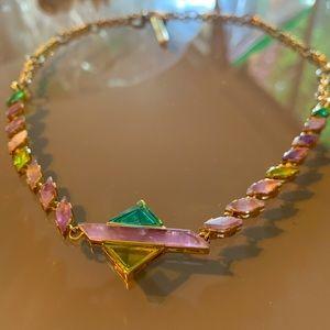 Carolee Marquise Geo Stone Pendant Collar Necklace